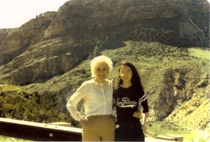 My mother & me on a trip