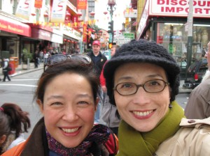 With Frances in San Francisco's Chinatown