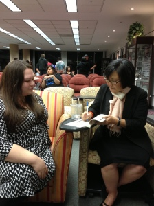 Naomi with MFA student Heather Reyes