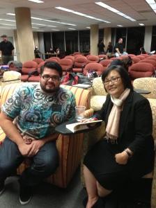 With MFA student Ruben Rodriguez
