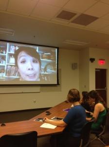 Betty Ming Liu visiting our class via Skype